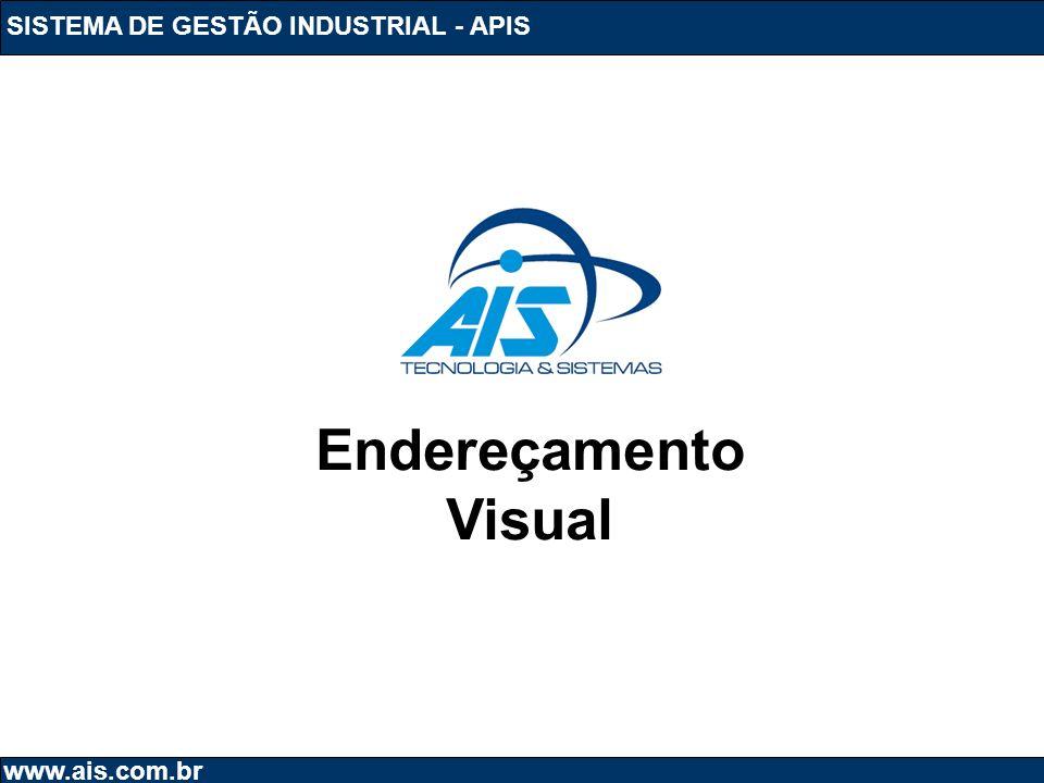 SISTEMA DE GESTÃO INDUSTRIAL - APIS www.ais.com.br Endereçamento Visual