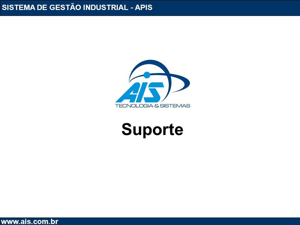 SISTEMA DE GESTÃO INDUSTRIAL - APIS www.ais.com.br Suporte