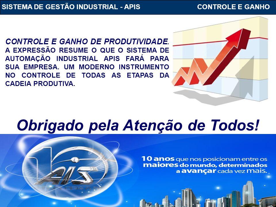 SISTEMA DE GESTÃO INDUSTRIAL - APIS www.ais.com.br CONTROLE E GANHO DE PRODUTIVIDADE. A EXPRESSÃO RESUME O QUE O SISTEMA DE AUTOMAÇÃO INDUSTRIAL APIS