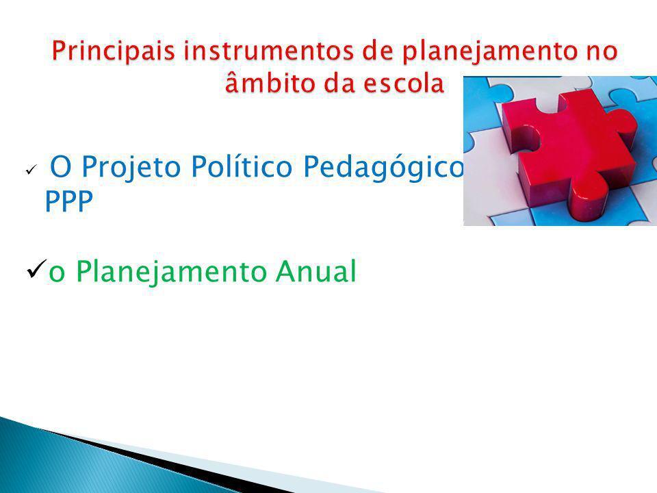 O Projeto Político Pedagógico- PPP o Planejamento Anual