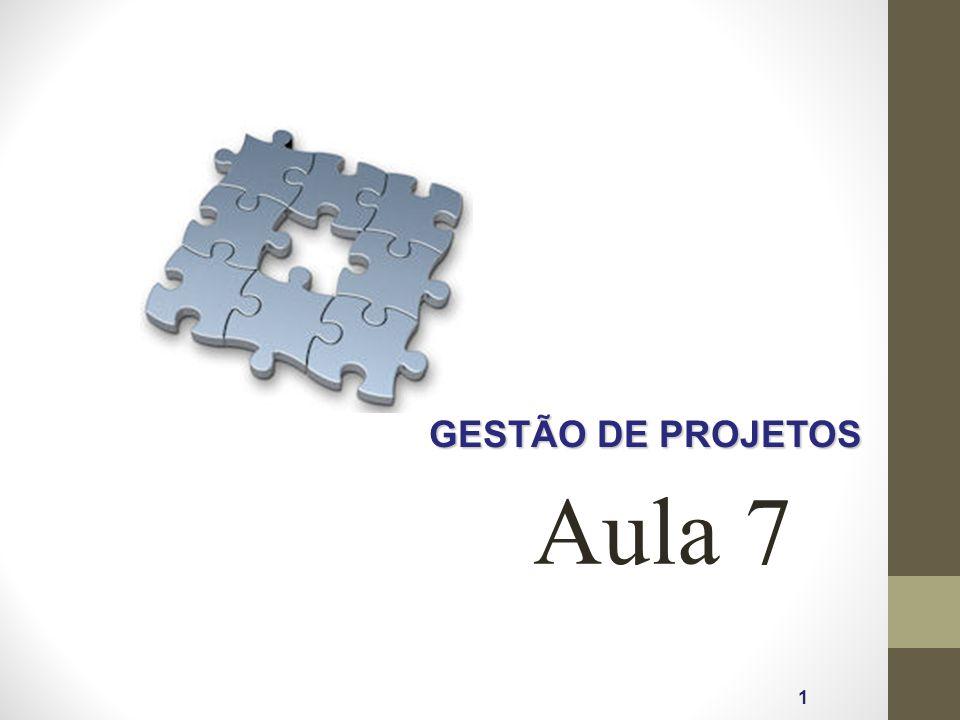 GESTÃO DE PROJETOS 1 Aula 7
