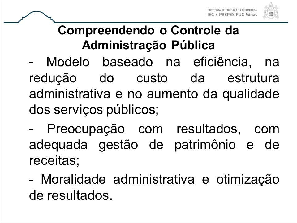 Compreendendo o Controle da Administração Pública - Modelo baseado na eficiência, na redução do custo da estrutura administrativa e no aumento da qual
