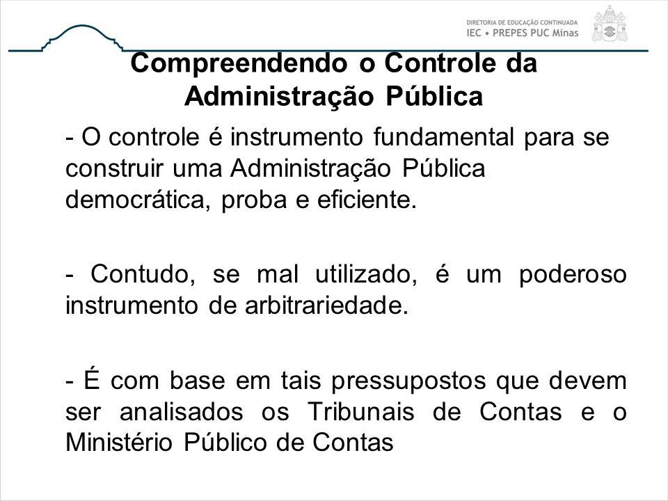 Compreendendo o Controle da Administração Pública - O controle é instrumento fundamental para se construir uma Administração Pública democrática, prob