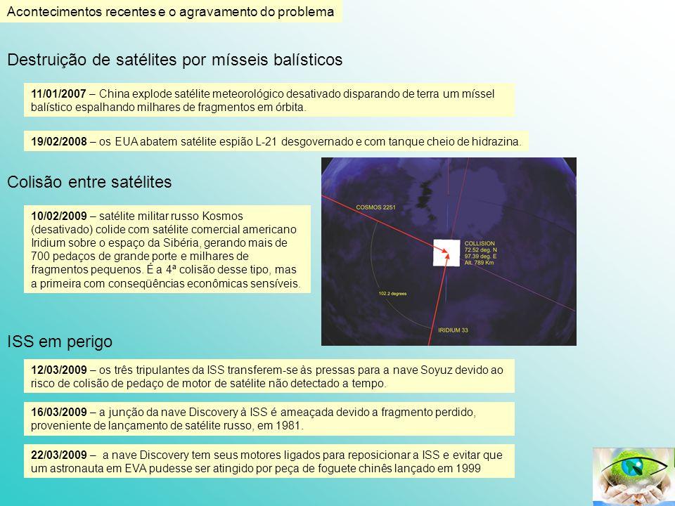 Acontecimentos recentes e o agravamento do problema ISS em perigo 12/03/2009 – os três tripulantes da ISS transferem-se às pressas para a nave Soyuz d