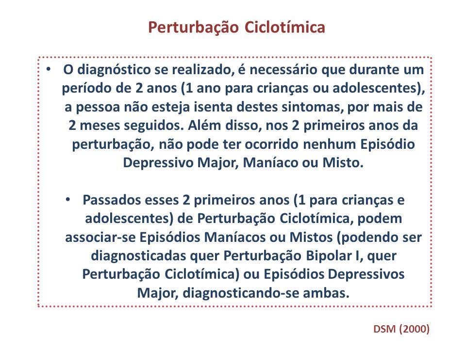 O diagnóstico se realizado, é necessário que durante um período de 2 anos (1 ano para crianças ou adolescentes), a pessoa não esteja isenta destes sin