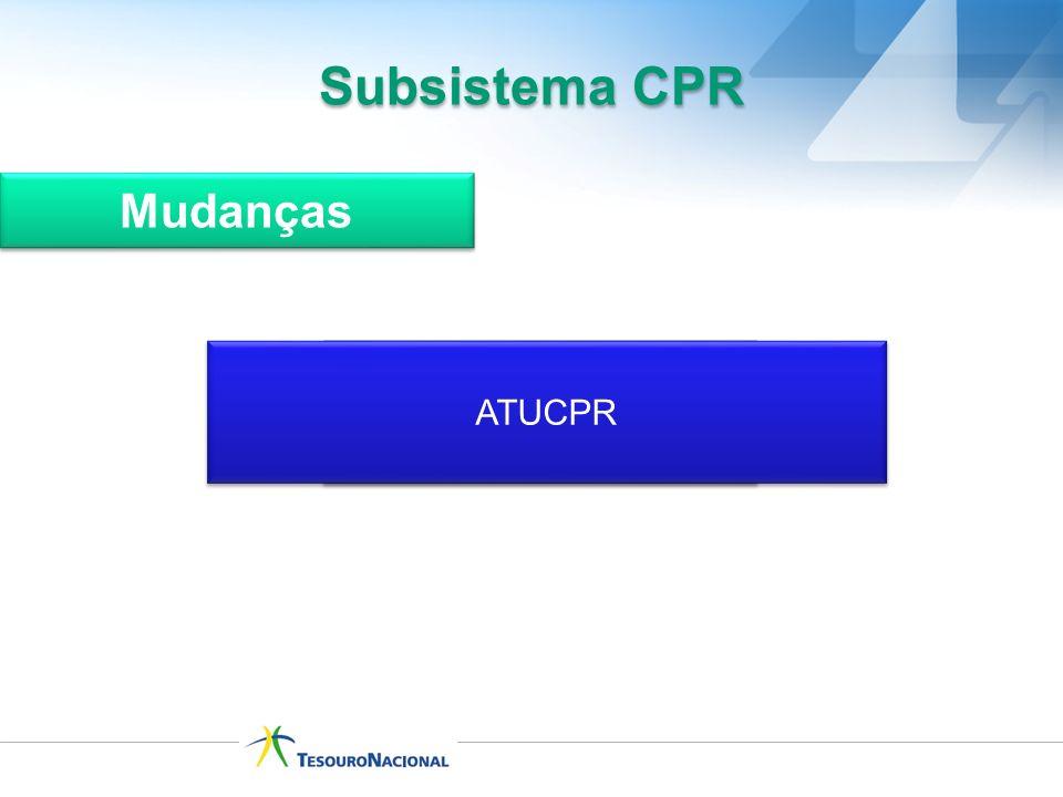 INCLUI DOCUMENTO HÁBIL - INCDH ATUCPR Subsistema CPR Mudanças