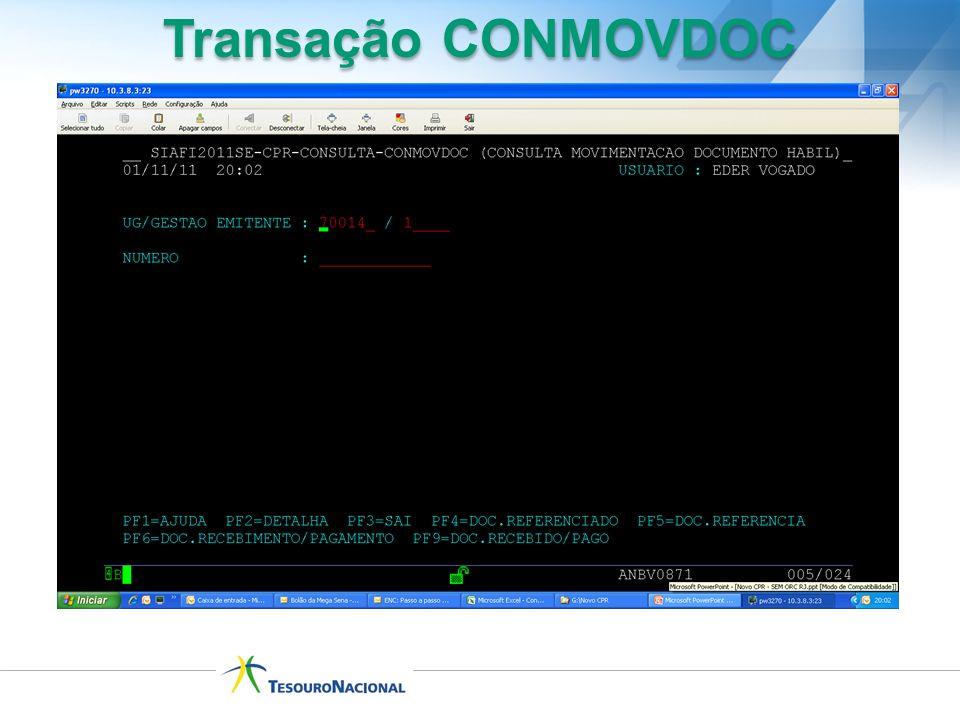 Transação CONMOVDOC