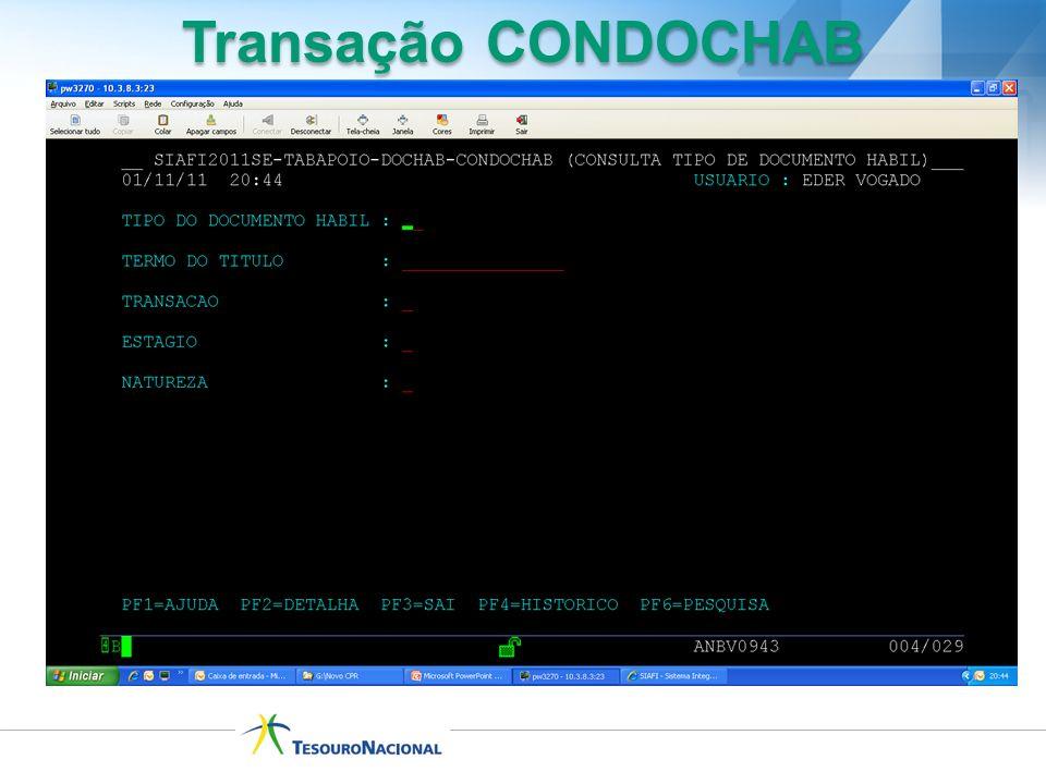 Transação CONDOCHAB