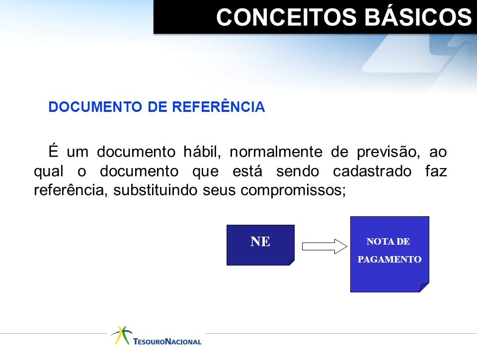 É um documento hábil, normalmente de previsão, ao qual o documento que está sendo cadastrado faz referência, substituindo seus compromissos; DOCUMENTO