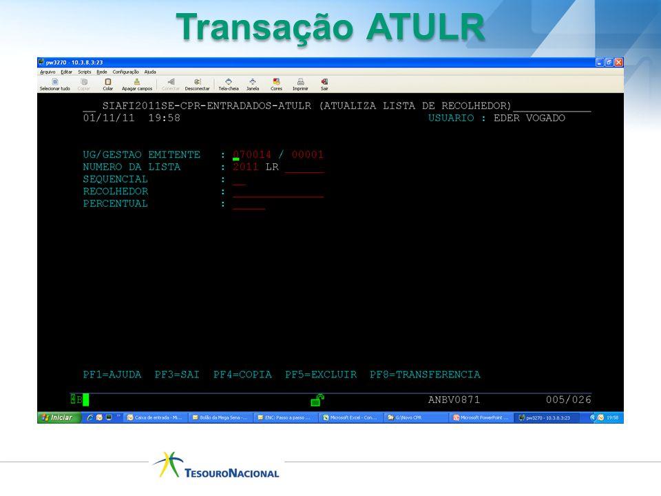Transação ATULR