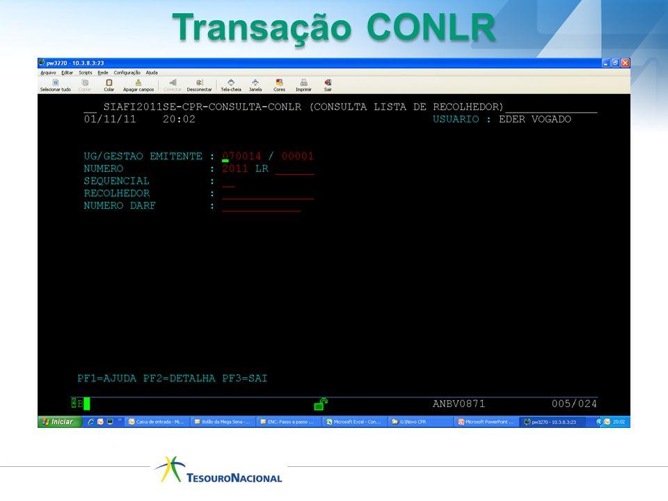 Transação CONLR