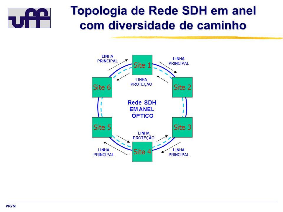 NGN Objetivos do SDH NGN Objetivos do SDH NGN Suportar qualquer tipo de tráfego, inclusive pacote de dados.