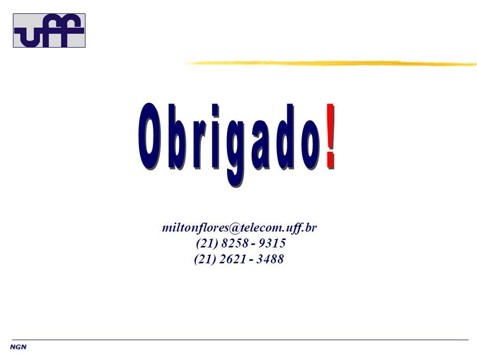 NGN miltonflores@telecom.uff.br (21) 8258 - 9315 (21) 2621 - 3488