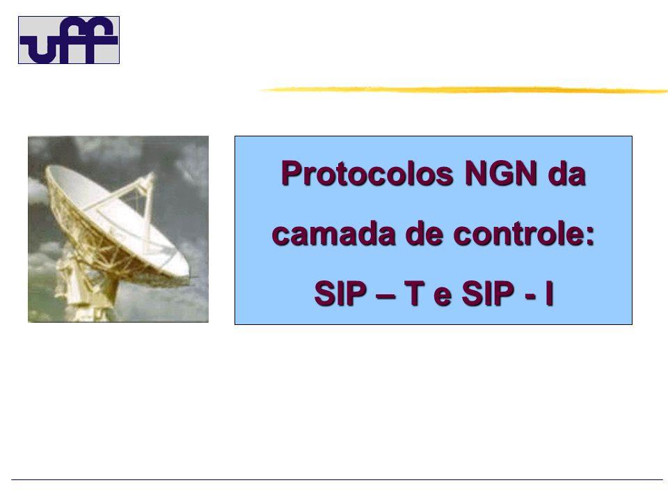 SIP – T IETF NGN Definido pela IETF em 2002, como na RFC 3261 para possibilitar o transporte de parâmetros das mensagens ISUP na extenção SDP e suporta as seguintes RFCs: o RFC 3204 MIME media types for ISUP and QSIG Objects - regras de encapsulamento das mensagens ISUP.
