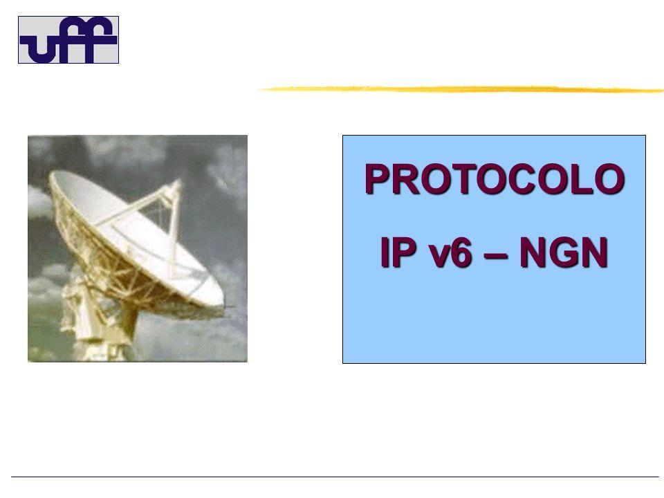 INTRODU Ç ÃO – IPv6 (IPv6.br) Atualmente, os 4.294.967.296 endere ç os IPv4 formado por 32 bits, estão se esgotando devido a crescente utiliza ç ão da internet (1984) Para contornar este problema o IETF criou o IPv6 (Internet Protocol version 6), constitu í do por 128 bits, que aumenta drasticamente o numero de endere ç os para (1994): 340.282.366.920.938.463.463.374.607.431.768.211.456 Aproximadamente 3.4 x 10e38 Dividindo o n ú mero acima pela popula ç ão mundial, que é de aproximadamente 6,6 bilhões, haver á 5×10e28 de endere ç os para cada habitante.
