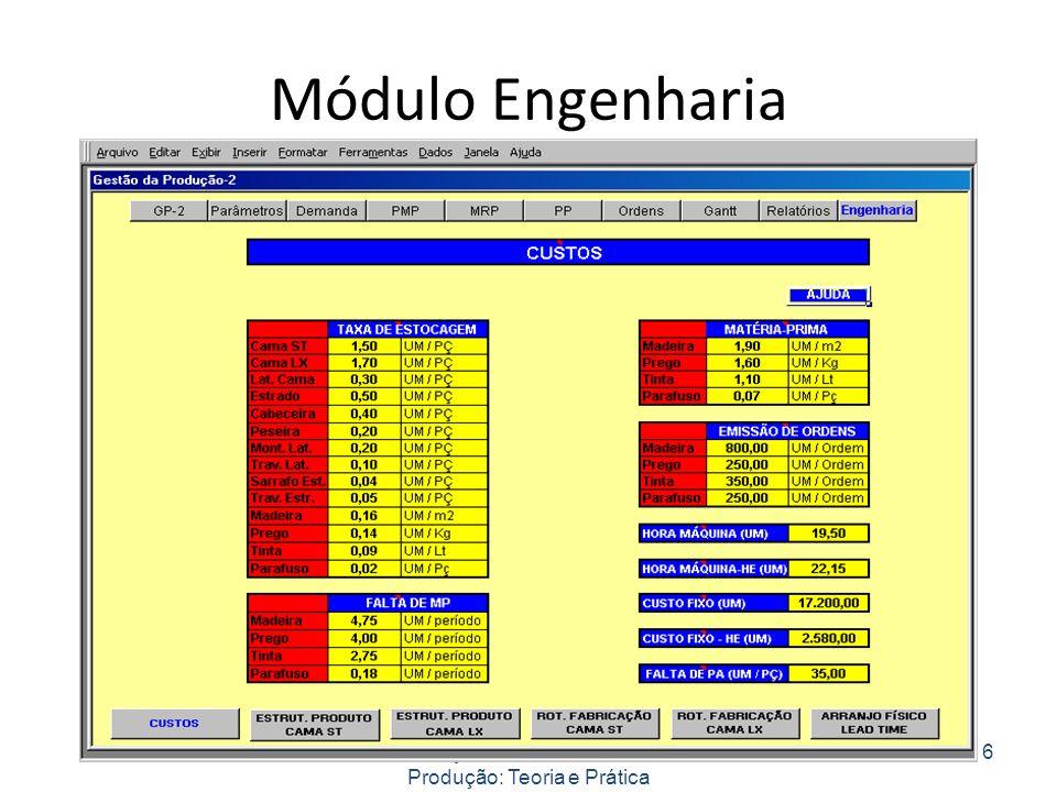 Módulo Engenharia Planejamento e Controle da Produção: Teoria e Prática 6