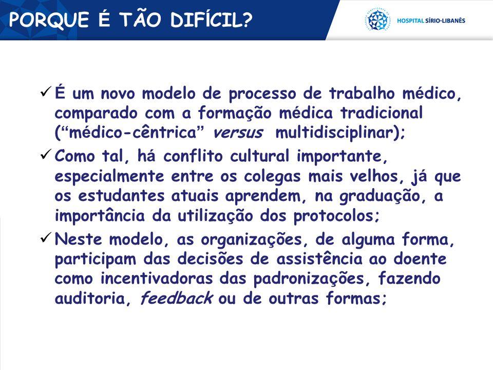 É um novo modelo de processo de trabalho m é dico, comparado com a forma ç ão m é dica tradicional ( m é dico-cêntrica versus multidisciplinar); Como