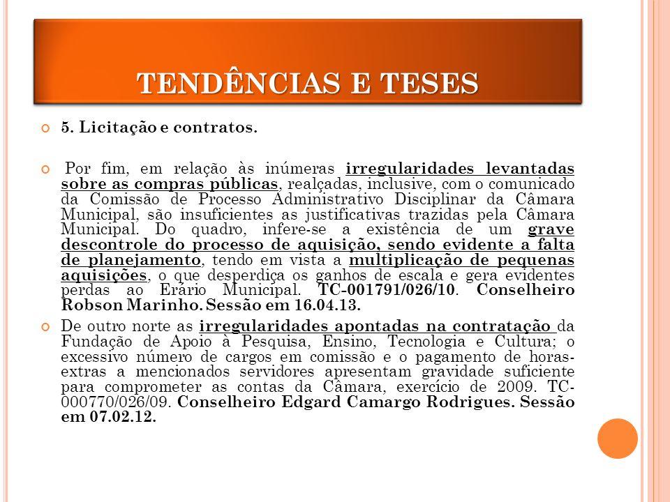 5.Licitação e contratos.