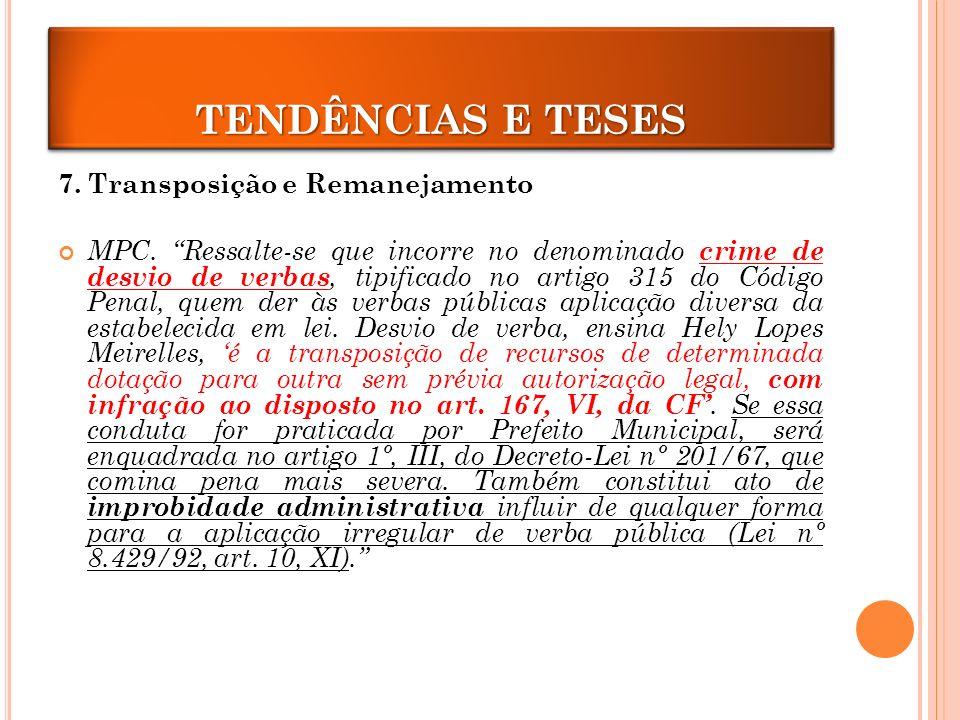 TRANPOSIÇÃO E REMANEJAMENTO 7.Transposição e Remanejamento MPC.