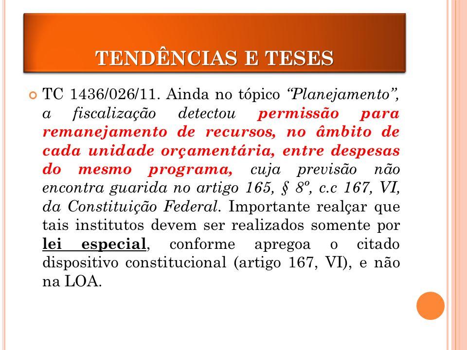 TRANPOSIÇÃO E REMANEJAMENTO TC 1436/026/11.