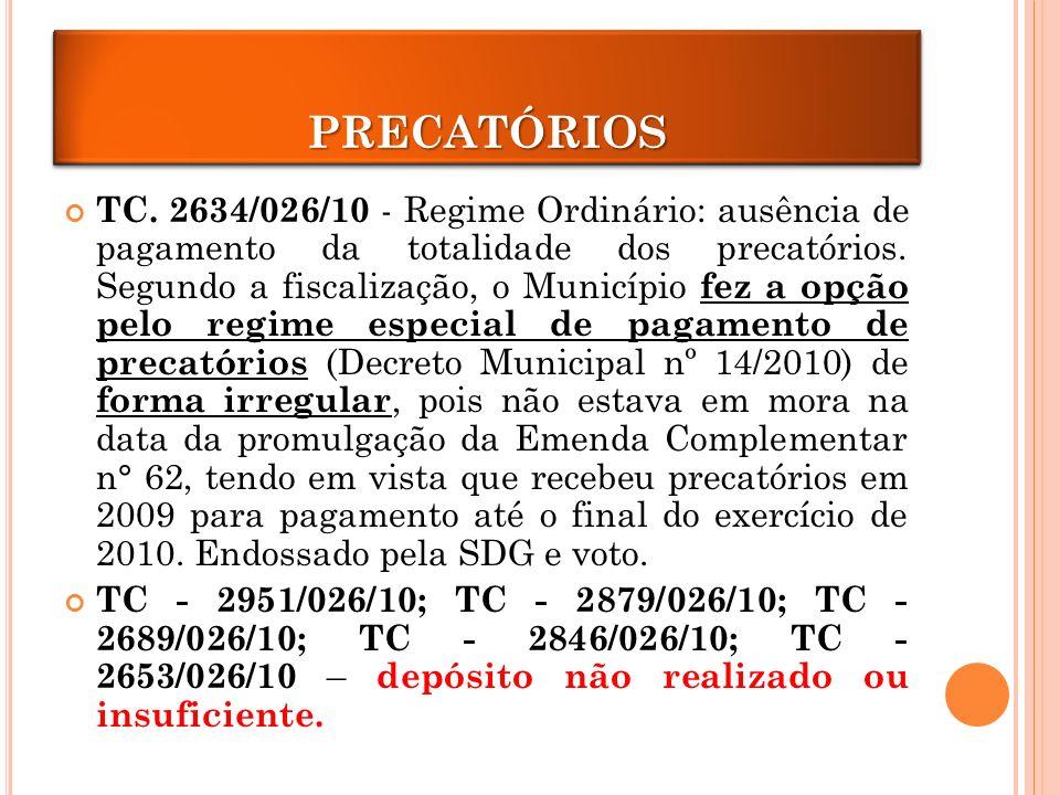 PRECATÓRIOS TC.
