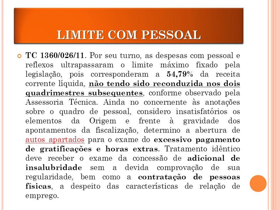 LIMITE COM PESSOAL TC 1360/026/11.