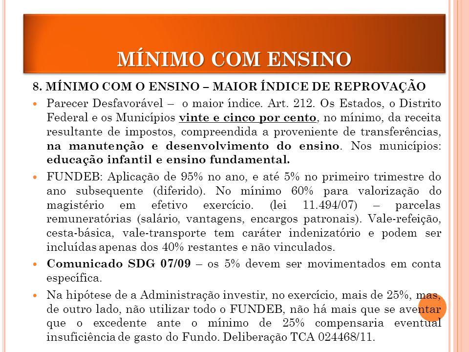MÍNIMO COM ENSINO 8.