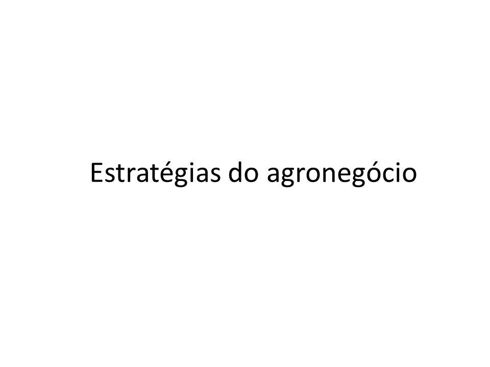 Estratégias do agronegócio
