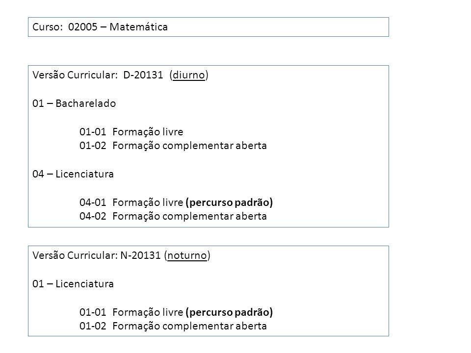 Rendimento Semestral Global (RSG) ConceitoValor A5 B4 C3 D2 E1 F0 RSG = média ponderada dos valores obtidos no semestre, com pesos os números de créditos.