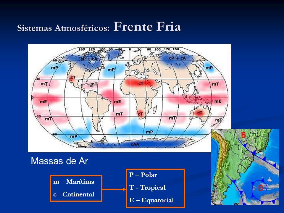 Massas de Ar m – Marítima c - Cntinental P – Polar T - Tropical E – Equatorial