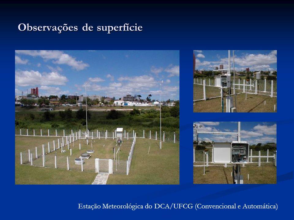 Observações de superfície Estação Meteorológica do DCA/UFCG (Convencional e Automática)