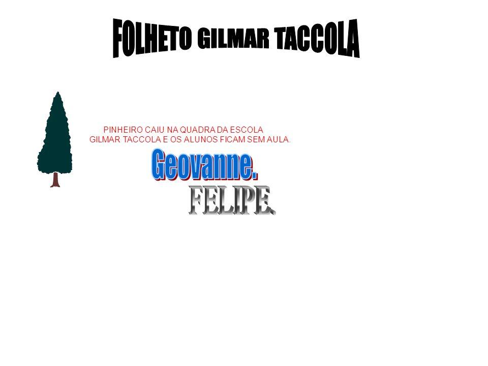PINHEIRO CAIU NA QUADRA DA ESCOLA GILMAR TACCOLA E OS ALUNOS FICAM SEM AULA.