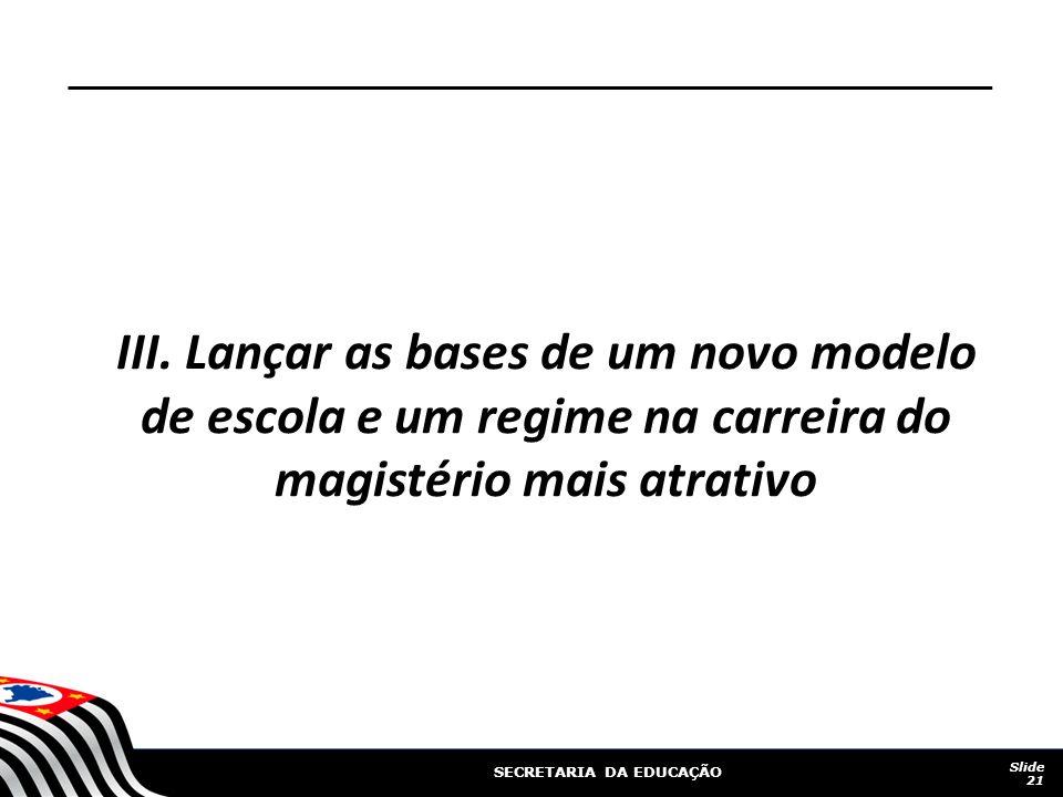 SECRETARIA DA EDUCAÇÃO III.