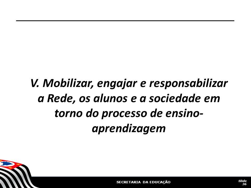 SECRETARIA DA EDUCAÇÃO V.