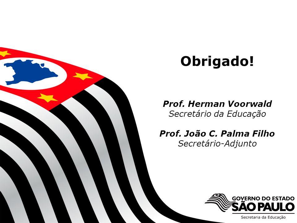 SECRETARIA DA EDUCAÇÃO Obrigado.Prof. Herman Voorwald Secretário da Educação Prof.