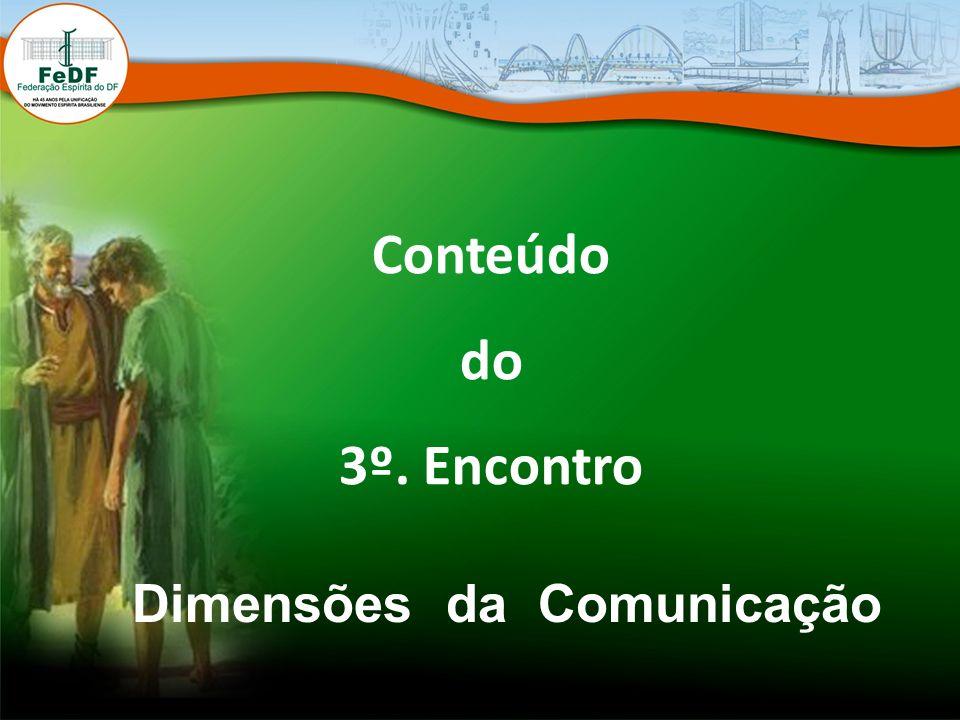 Conteúdo do 3º. Encontro Dimensões da Comunicação