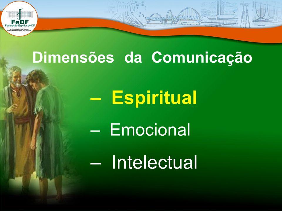 Dimensões da Comunicação – Espiritual – Emocional – Intelectual