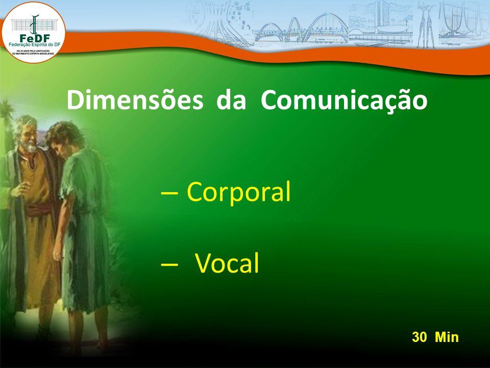 Dimensões da Comunicação – Corporal – Vocal 30 Min