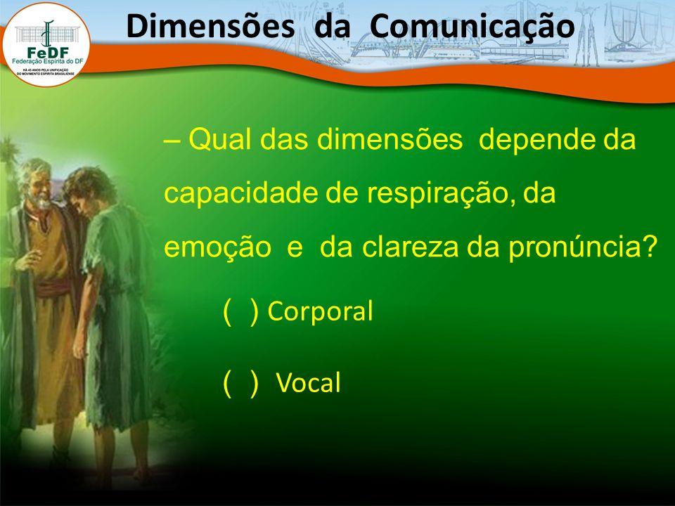 – Qual das dimensões depende da capacidade de respiração, da emoção e da clareza da pronúncia.