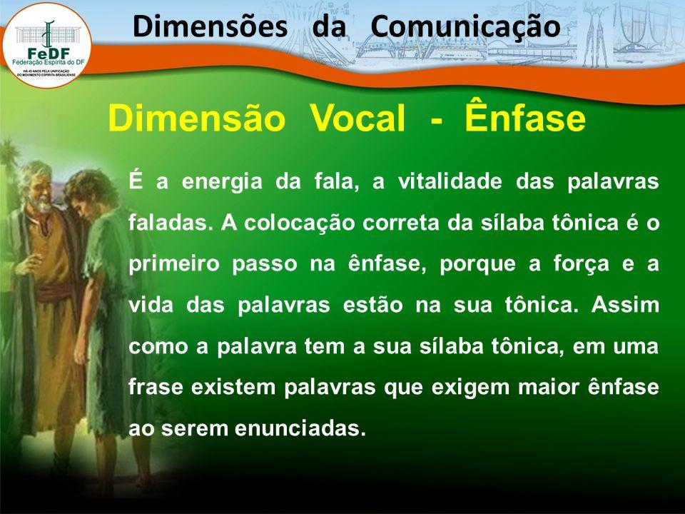É a energia da fala, a vitalidade das palavras faladas.