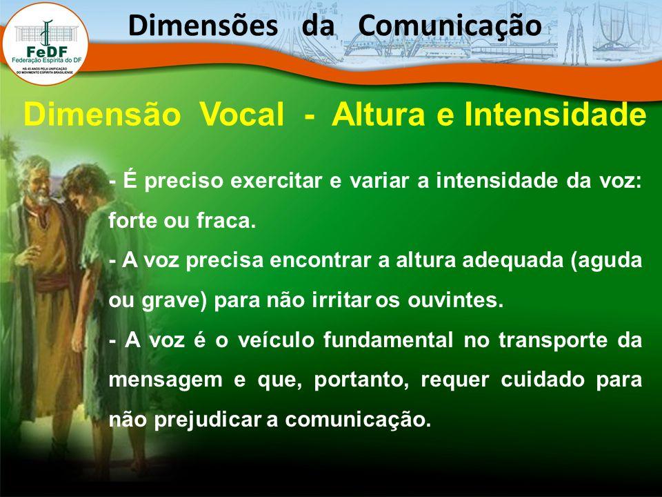 - É preciso exercitar e variar a intensidade da voz: forte ou fraca. - A voz precisa encontrar a altura adequada (aguda ou grave) para não irritar os