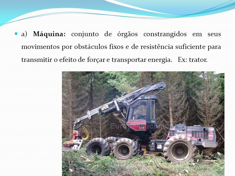 Aplicação de fertilizantes: calcareadoras, distribuidoras de estercos Cultivo: cultivadores mecânicos.