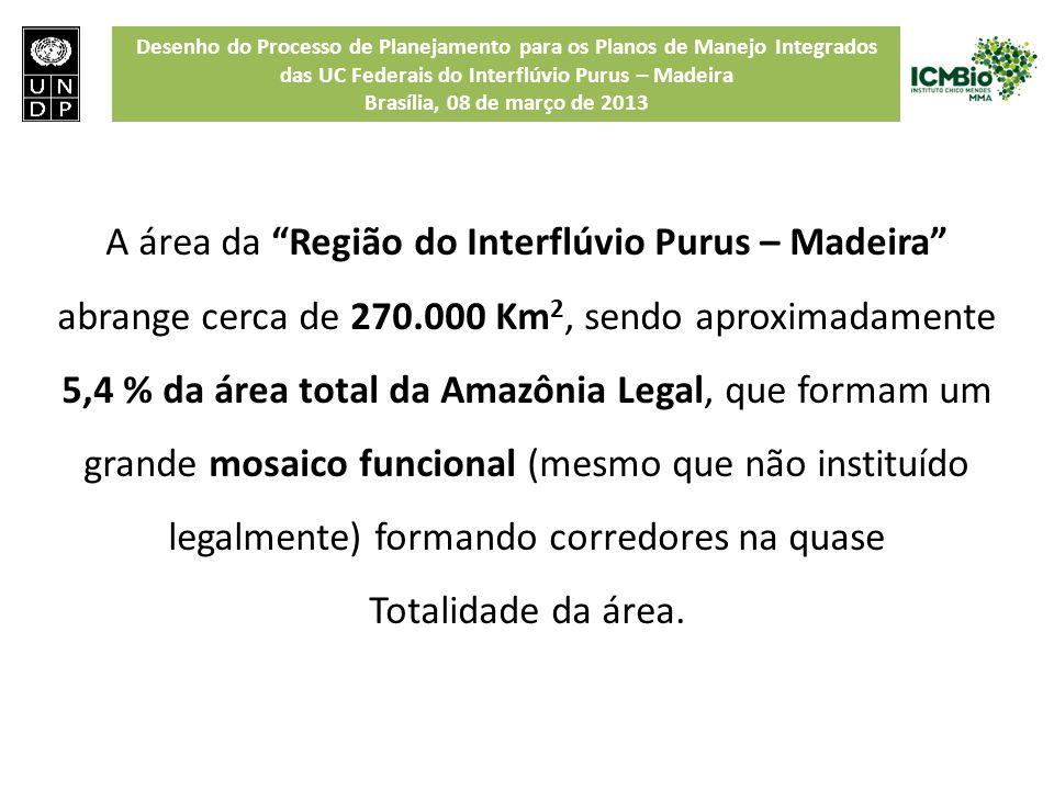 Desenho do Processo de Planejamento para os Planos de Manejo Integrados das UC Federais do Interflúvio Purus – Madeira Brasília, 08 de março de 2013 A