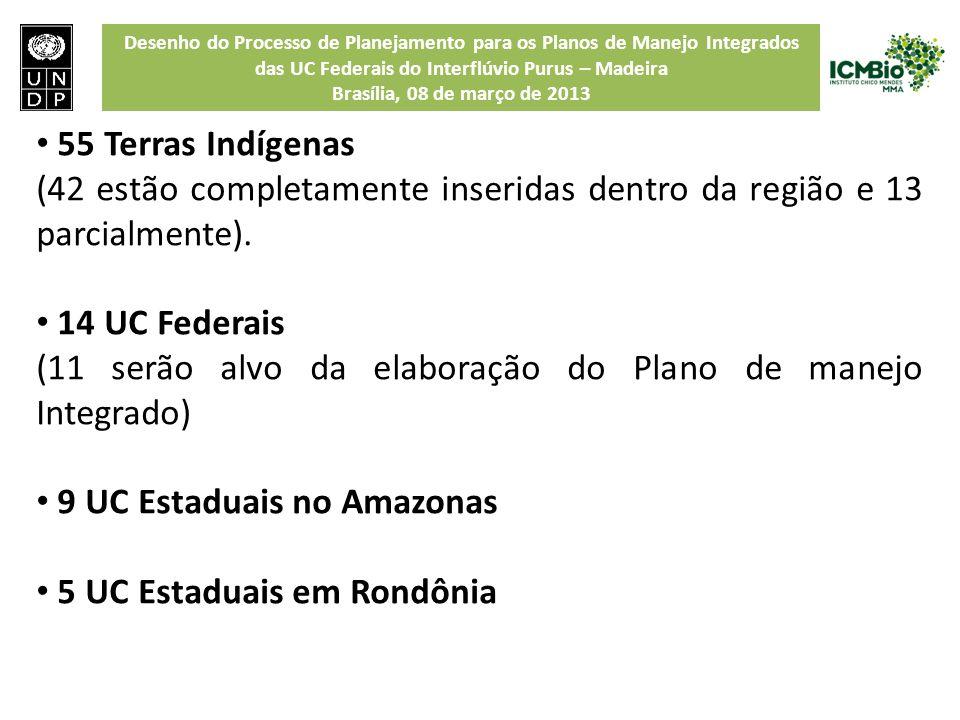 Desenho do Processo de Planejamento para os Planos de Manejo Integrados das UC Federais do Interflúvio Purus – Madeira Brasília, 08 de março de 2013 5