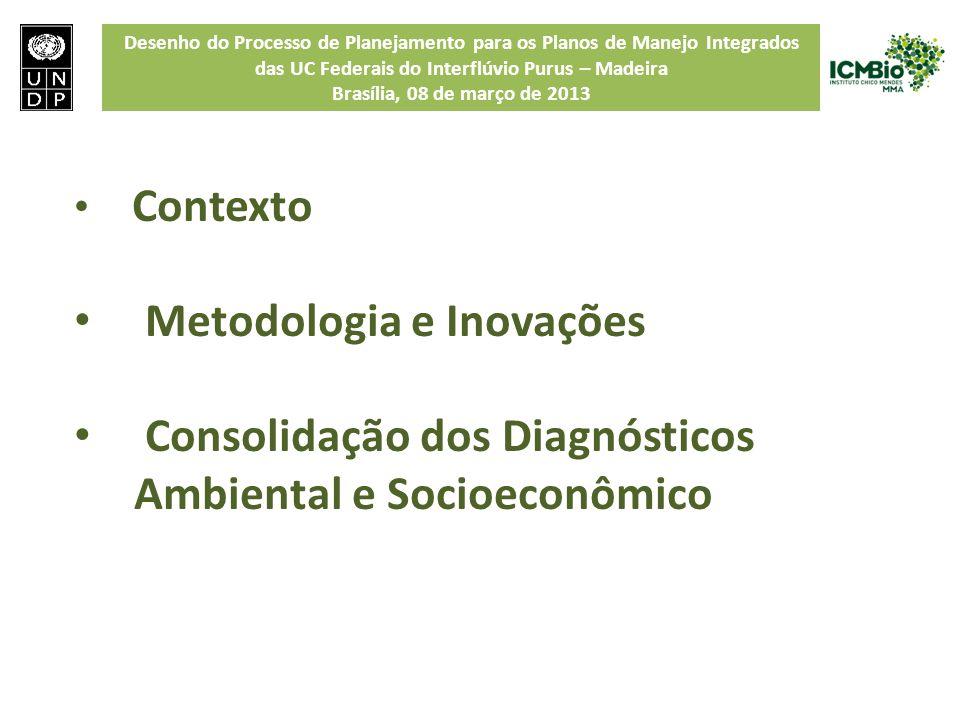 Desenho do Processo de Planejamento para os Planos de Manejo Integrados das UC Federais do Interflúvio Purus – Madeira Brasília, 08 de março de 2013 C