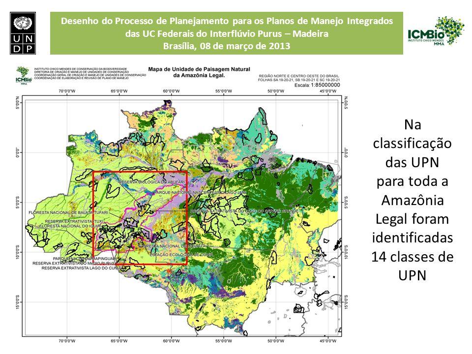 Desenho do Processo de Planejamento para os Planos de Manejo Integrados das UC Federais do Interflúvio Purus – Madeira Brasília, 08 de março de 2013 N