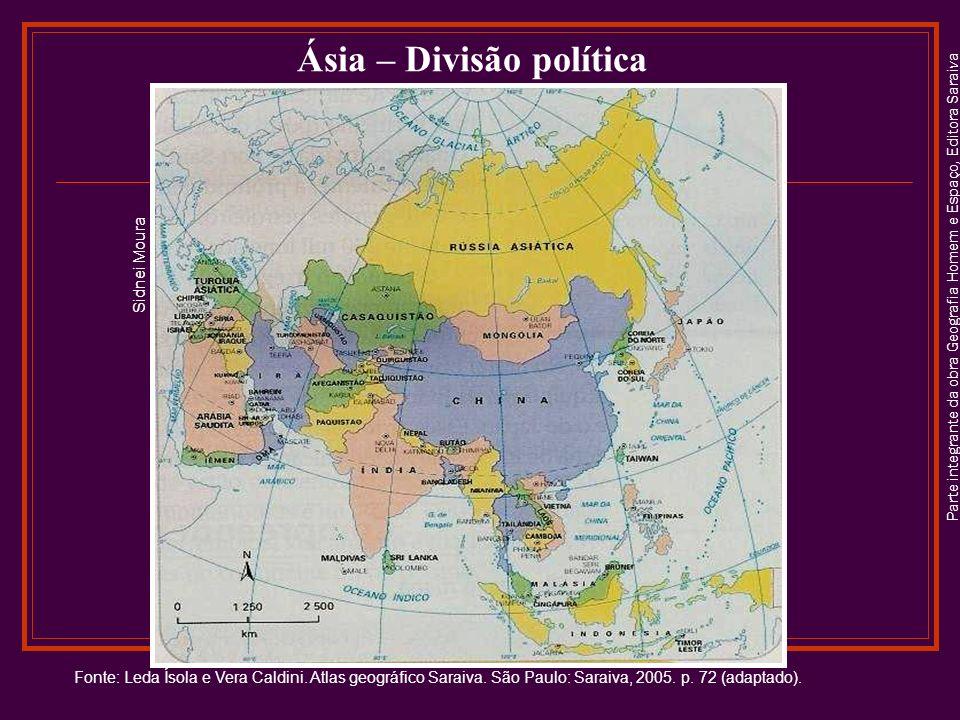 Parte integrante da obra Geografia Homem e Espaço, Editora Saraiva A hidrografia A Ásia abriga mais de 60% da população mundial.