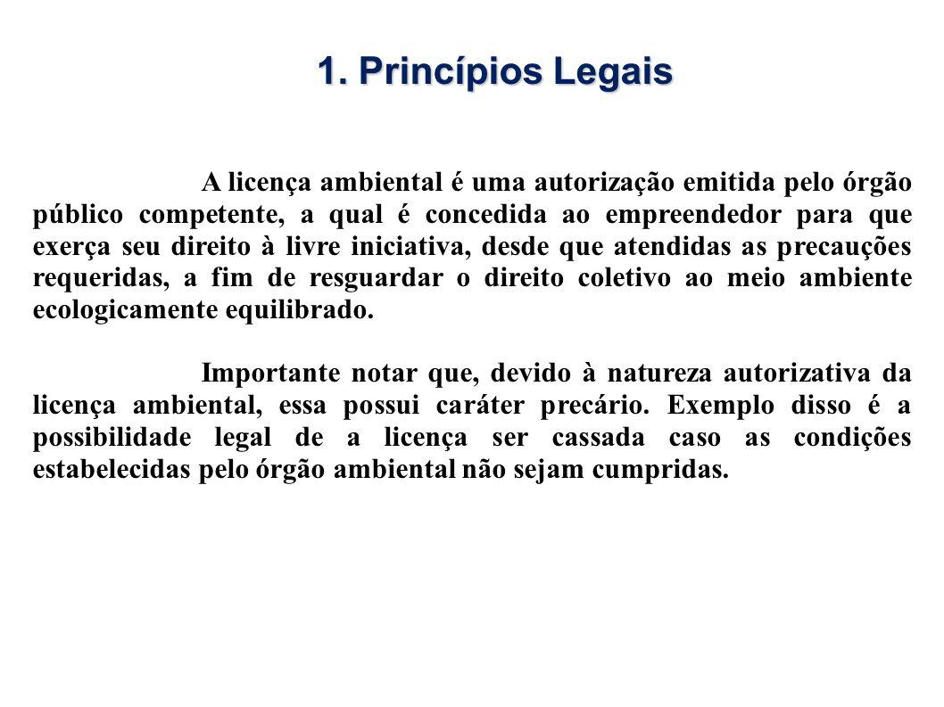 A licença ambiental é uma autorização emitida pelo órgão público competente, a qual é concedida ao empreendedor para que exerça seu direito à livre in