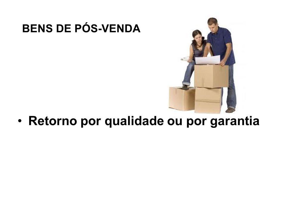 BENS DE PÓS-VENDA Retorno por qualidade ou por garantia