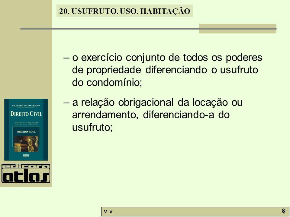 20.USUFRUTO. USO. HABITAÇÃO V. V 19 20.12.